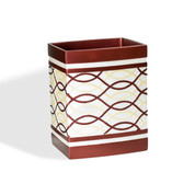 Harmony Wastebasket - Burgundy from Popular Bath