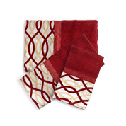 Harmony burgundy 3 piece towel SET  from Popular Bath