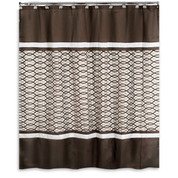 Harmony Chocolate Shower Curtain (hooks not included) from Popular Bath