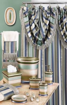 Contempo Shower Curtain & Bathroom Accessories - Blue from Popular Bath