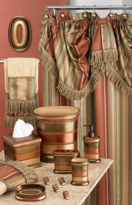 Contempo Shower Curtain & Bathroom Accessories from Popular Bath
