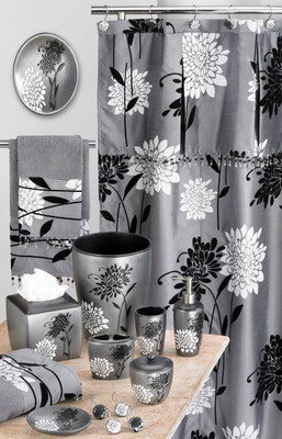 Erica Shower Curtain & Bathroom Accessories from Popular Bath