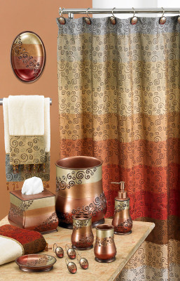 Miramar Shower Curtain & Bathroom Accessories from Popular Bath