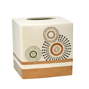 Suzani Tissue Box - Gold