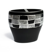 Mosaic Toothbrush Holder - Black