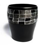 Mosaic Wastebasket - Black