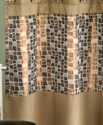 Mosaic bronze shower curtain from Popular Bath