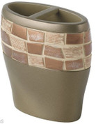 Mosaic Toothbrush Holder - Bronze