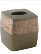 Mosaic Tissue Box - Bronze