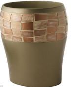 Mosaic Wastebasket - Bronze