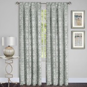 Madison Silver Room Darkening Rod Pocket Curtains from Achim