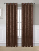 Glitter Grommet Top Curtain Panel - Chocolate