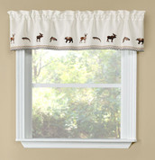 Lodge kitchen curtain valance