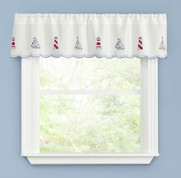 Lighthouse kitchen curtain valance