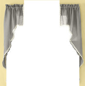 Andrea kitchen curtain swag - Gray