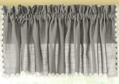 Andrea kitchen valance - Gray