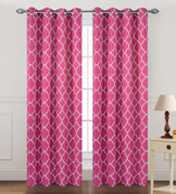 Kimberly Grommet Top Curtain Panel - Fuschia