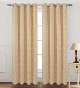Kimberly Grommet Top Curtain Panel - Gold