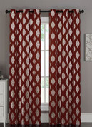 Marquis Grommet Top Curtain Pair - Brick