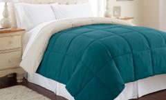 Alt Down Reversible Comforter - Blue Coral/Oatmeal