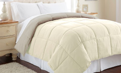 Alt Down Reversible Comforter - Ivory/Atmosphere