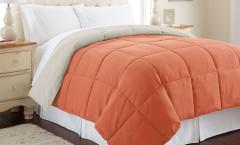 Alt Down Reversible Comforter - Orange Rust/Oatmeal