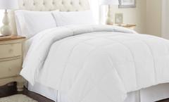 Alt Down Reversible Comforter - White/White