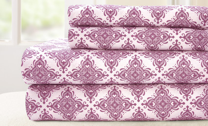 200 Thread Count Printed Sheet Set 100% cotton - Casablanca Lavender