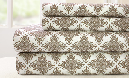 200 Thread Count Printed Sheet Set 100% cotton - Casablanca Stone