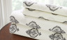200 Thread Count Printed Sheet Set 100% cotton - Medallion Gray
