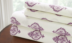200 Thread Count Printed Sheet Set 100% cotton - Medallion Lavender