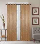 Diamond Grommet Top Curtain Panel - Gold