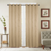 Gabriella Blackout Grommet Top Curtain Panel - Gold