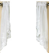 Laurel kitchen curtain swag - White