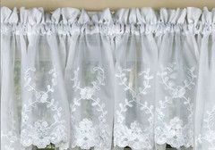 Laurel kitchen curtain valance - White