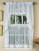 Laurel Kitchen Curtain - White