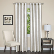 Jensen Blackout Grommet Top Curtain Panel - White