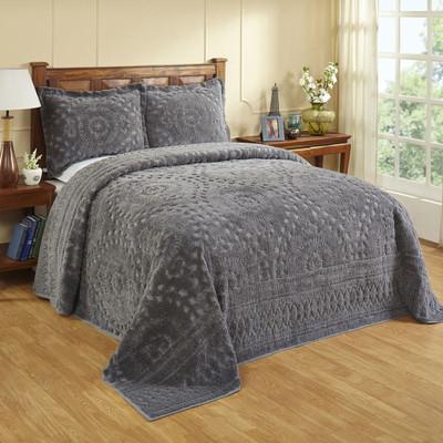 Rio Chenille Bedspread - Grey