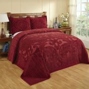 Ashton Chenille Bedspread - Burgundy
