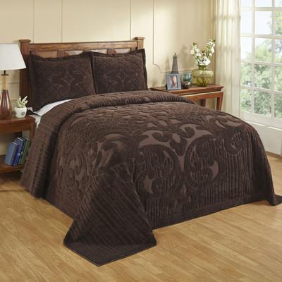 Ashton Chenille Bedspread - Chocolate