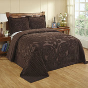 Ashton Chenille Bedspread - Chocolate