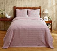 Natick Chenille Bedspread - Rose