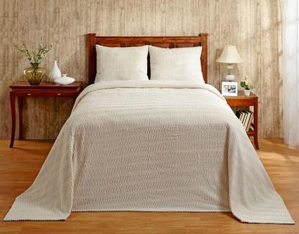 Natick Chenille Bedspread - Natural