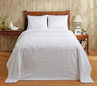 Natick Chenille Bedspread - White