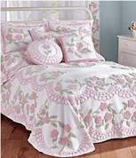 Bloomfield Cotton Chenille Bedspread - Pink