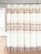 Rose Garden Organza Macrame Shower Curtain - Gold