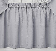 "Ribcord 24"" kitchen curtain tier - Gray"