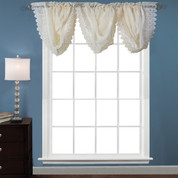 Deville Lace valance - Parchment (picture shows 3 valances)
