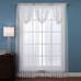 Deville Lace rod pocket curtains - White (picture shows 3 valances over 2 panels)