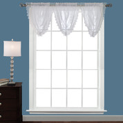 Deville Lace valance - White (picture shows 3 valances)